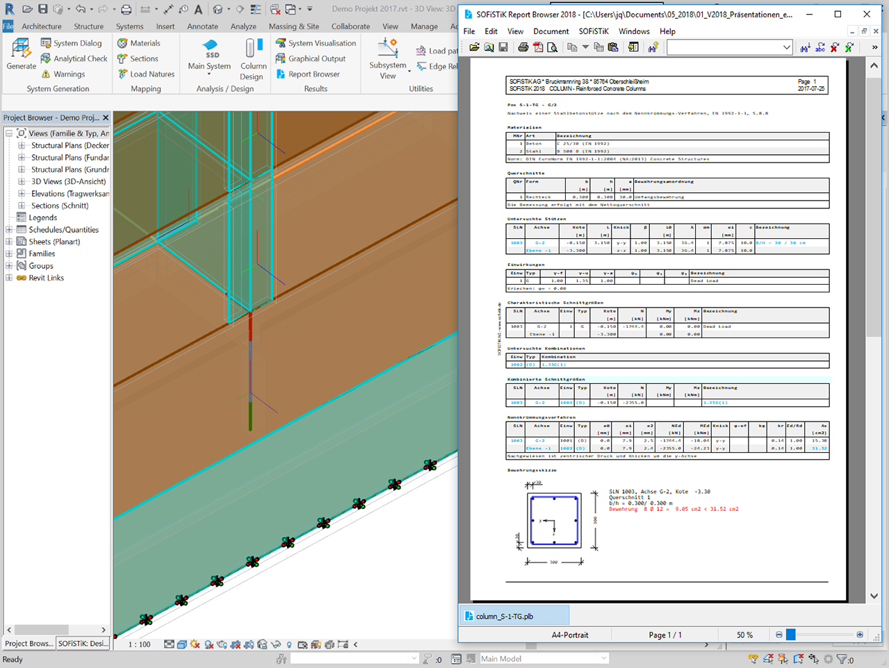 FEA Extension for Revit | SOFiSTiK AG - FEM, BIM and CAD Software