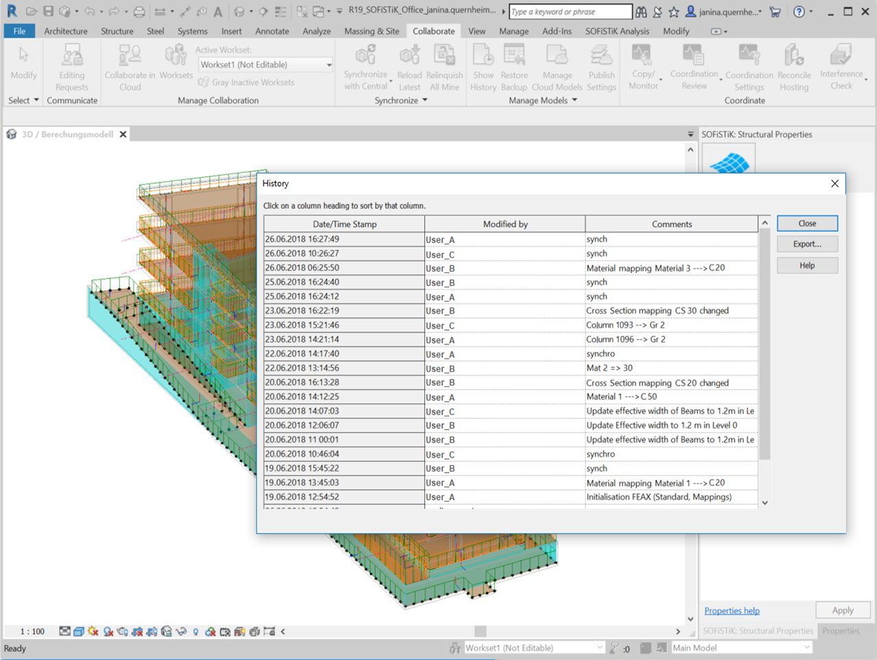 FEA Extension for Revit | SOFiSTiK AG